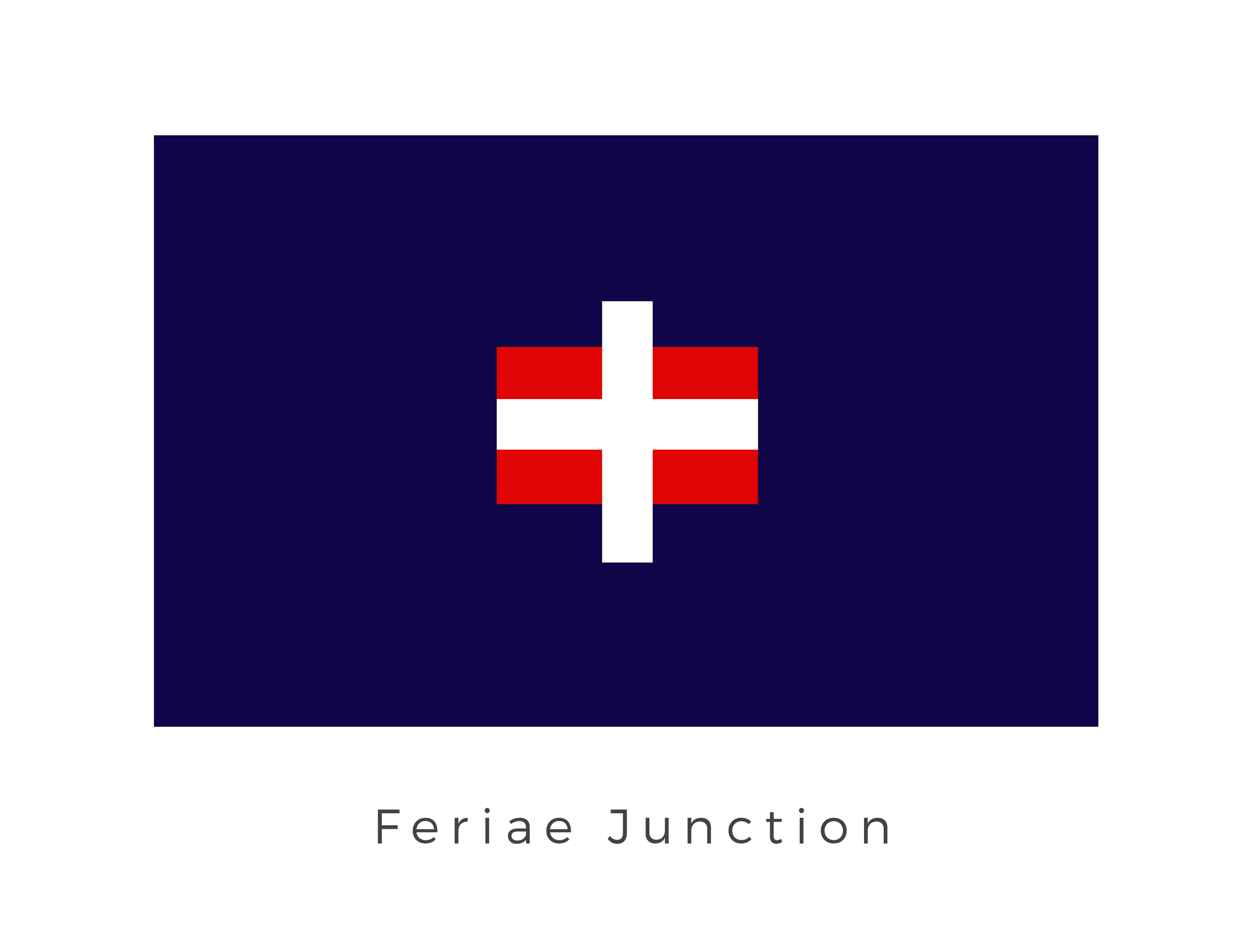 "Feriae Junction  (often simply called ""Junction""), not to be confused with Junction V, was a tradeworld at the nexus of the Hydian Way, the Thesme Trace, and the Gordian Reach. Ruled by local councils the planets flag has been created as a amalgamation of the different flags of the local councils while also harking to the planets place as central trade point."