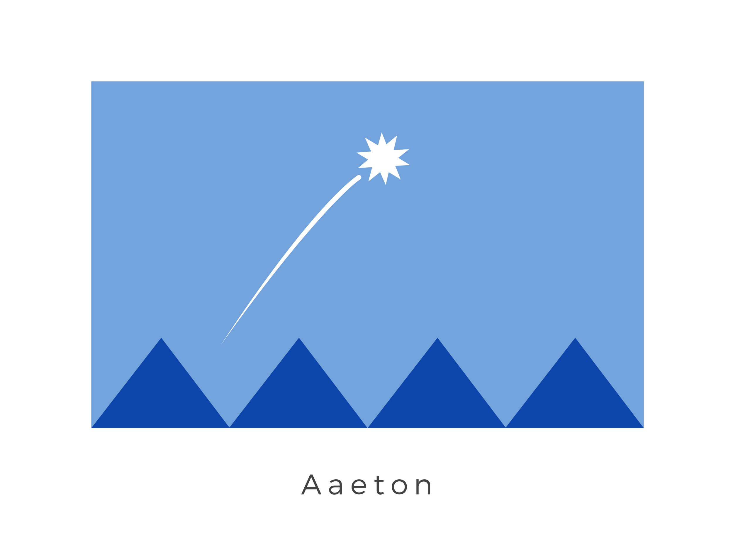 Aaeton  was a planet of the Aaeton system, in the Core Worlds region. As a member world of the Galactic Republic, Aaeton's surface was victim of an Imperial chemical attack during the Cold War between the Republic and Sith Empire. The shooting star graphic and mountain range represents the coming of age tradition of visiting neighbouring planet Ragoon VI. A real privilege as the planet is off limits to all aliens except the Jedi. The deep blue colour of the mountains symbolised the planets ties to the Galactic Republic.