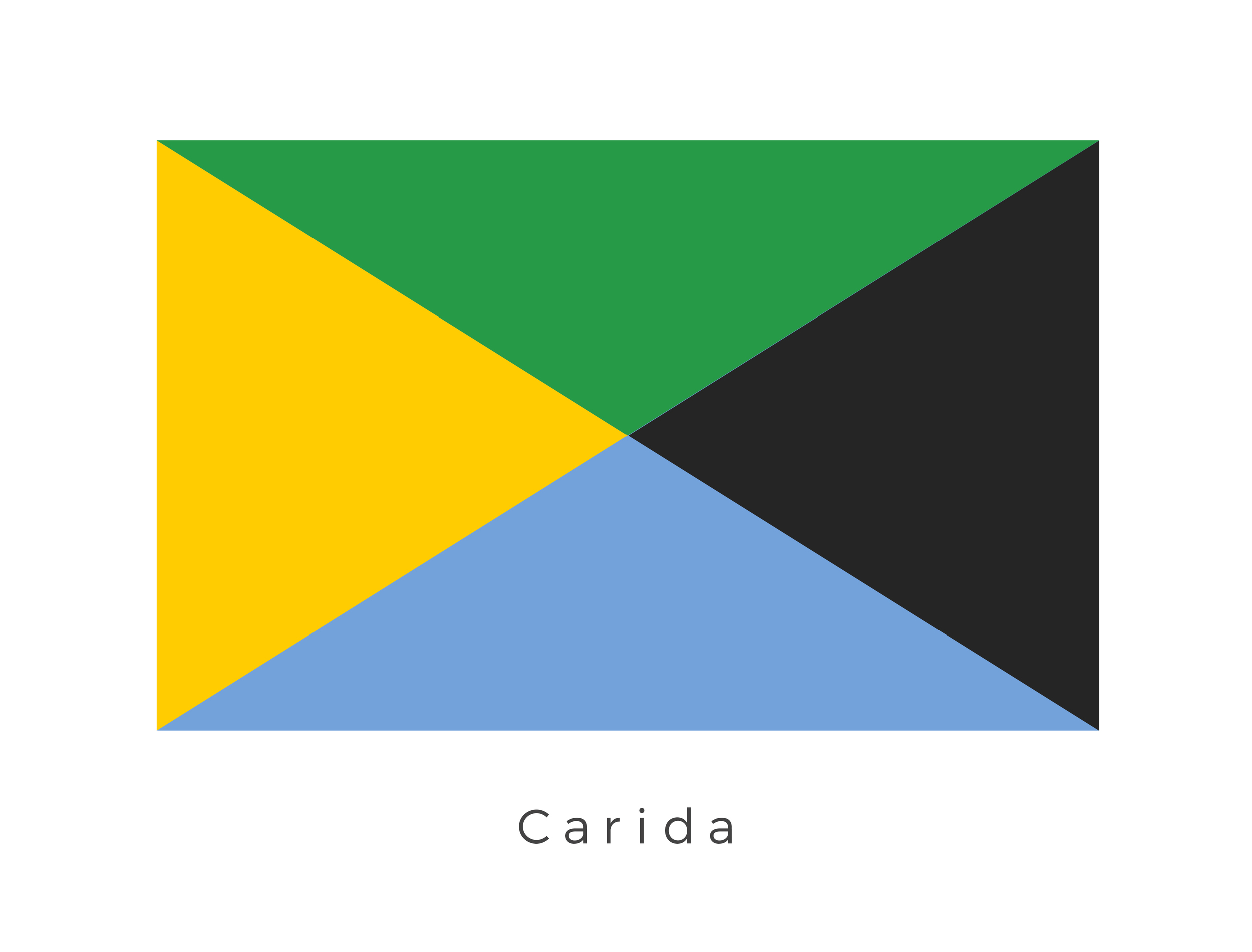 Carida  was a planet located in the Carida system. During the Clone Wars, the Valor space station orbited the planet, while the age of the Galactic Empire saw Carida as home to an Imperial academy and a naval docking facility. The four coloured panels which make up the flag represent the different periods in the planets history, from the period when it was affiliated with the Galactic Republic to the period of time when it was affiliated with the Galactic Empire.