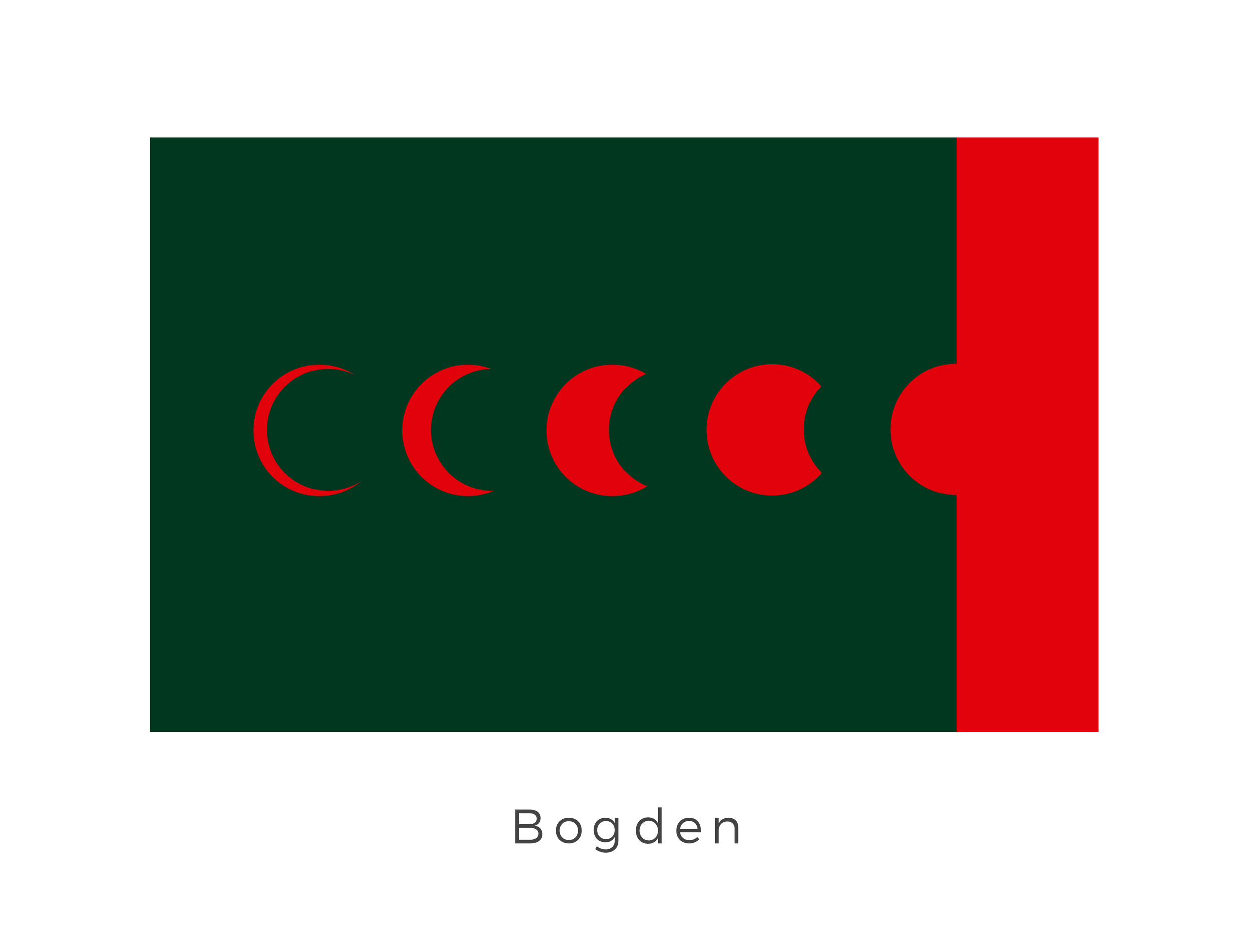 Bogden , also known as Bodgen, was a many-mooned world located in the Inner Rim, along the Hydian Way, between Arkania and Ploo. The many moons came to dominate life on Bogden due to their immense gravitational pull. The deep green signifies the boggy swampland that covered much of the planet and the red was the famous lunar eclipses which would occur on the planet.