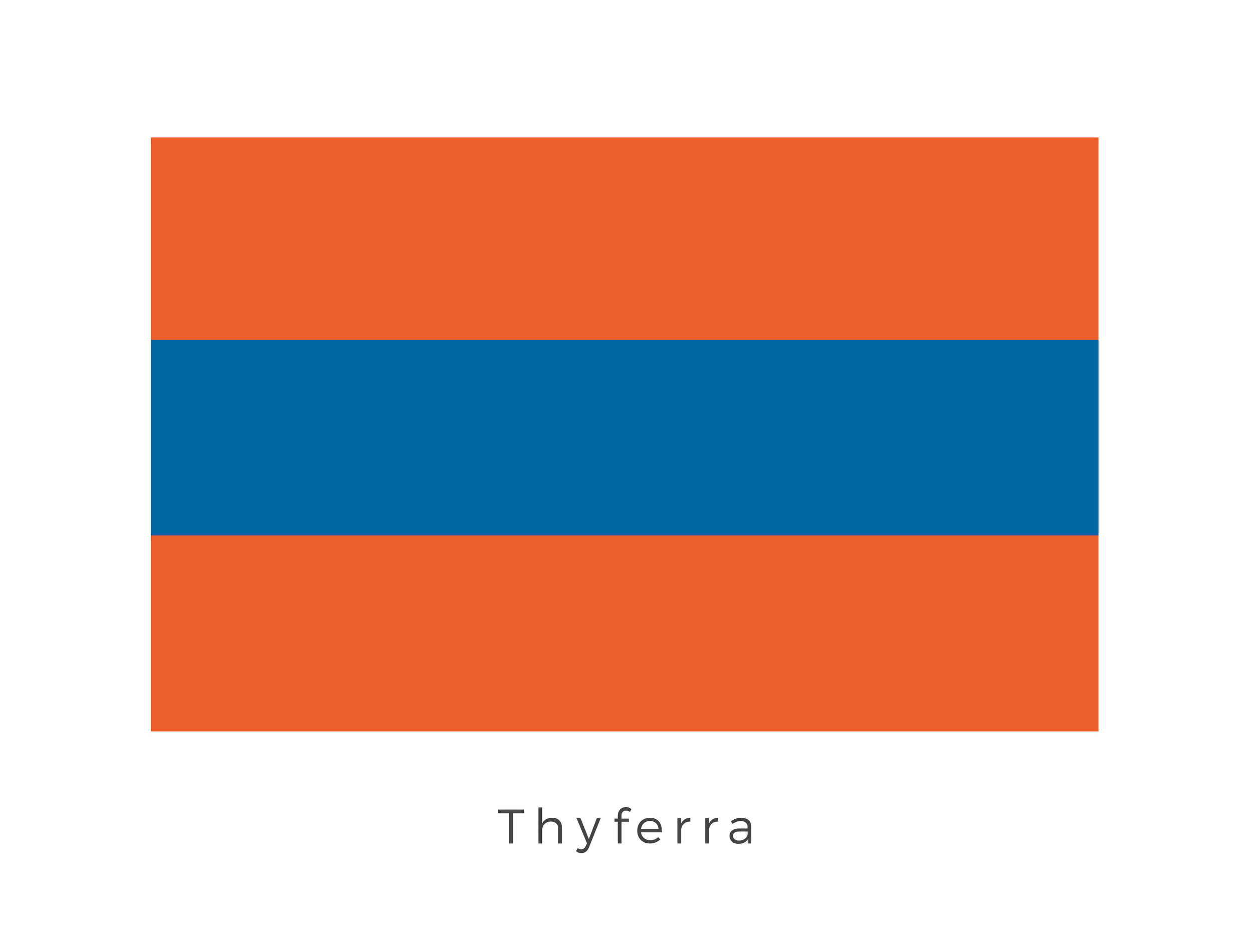Thyferra  was a hot, humid planet located in the Polith system on the Rimma Trade Route, on which most of the galaxy's bacta was produced. It was also a major political power as bacta production was an essential commodity. The orange bands on either side represent the planets two moons, while the blue band in the middle represents the planets significant and precious supplies of bacta.