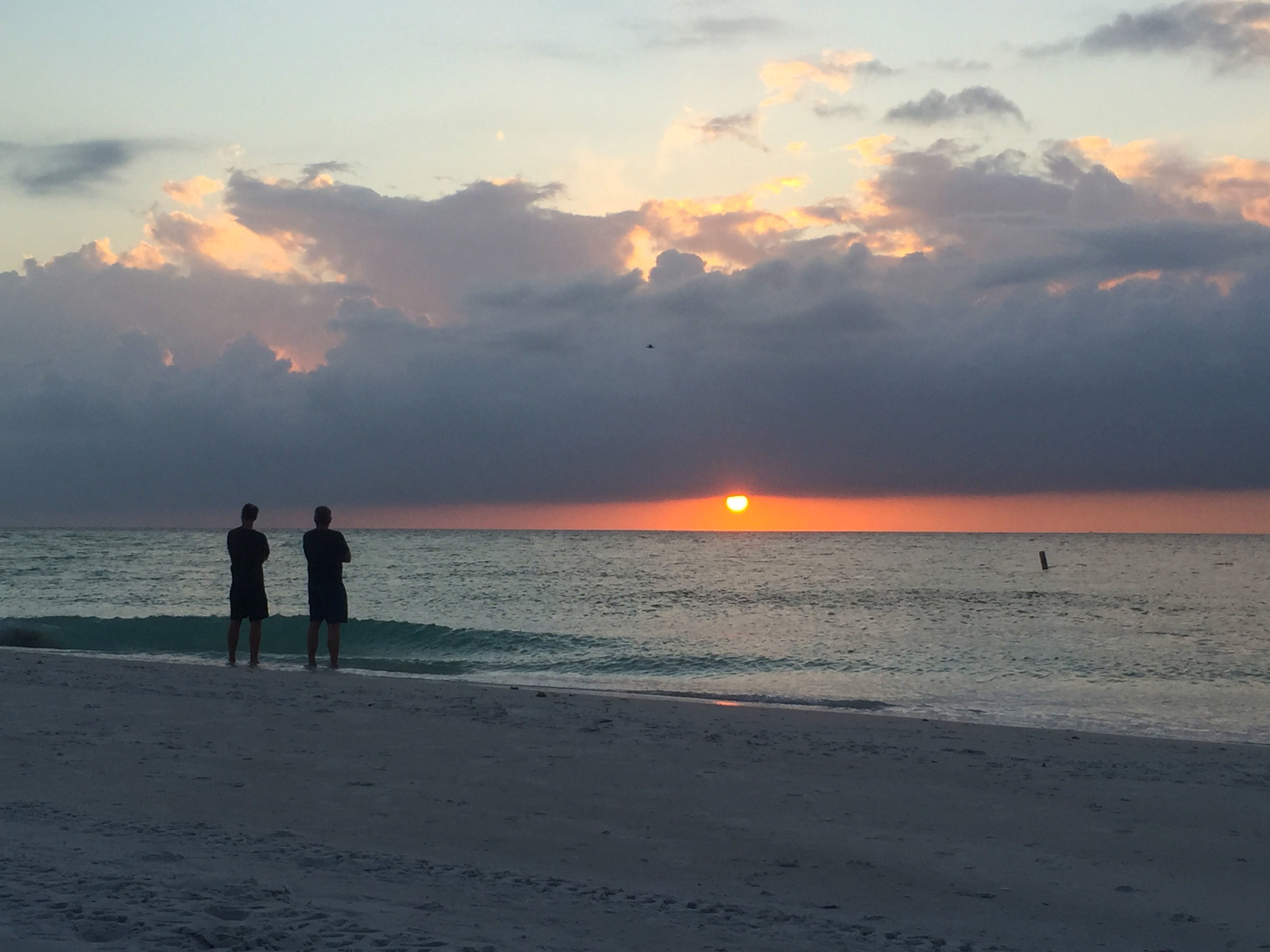 Each night people gather on the beach to watch the sunset. And we were always amongst them. I like this tradition. It's amazing to think we all are looking at the same sun at the end of each day, no matter where we are isn't it?