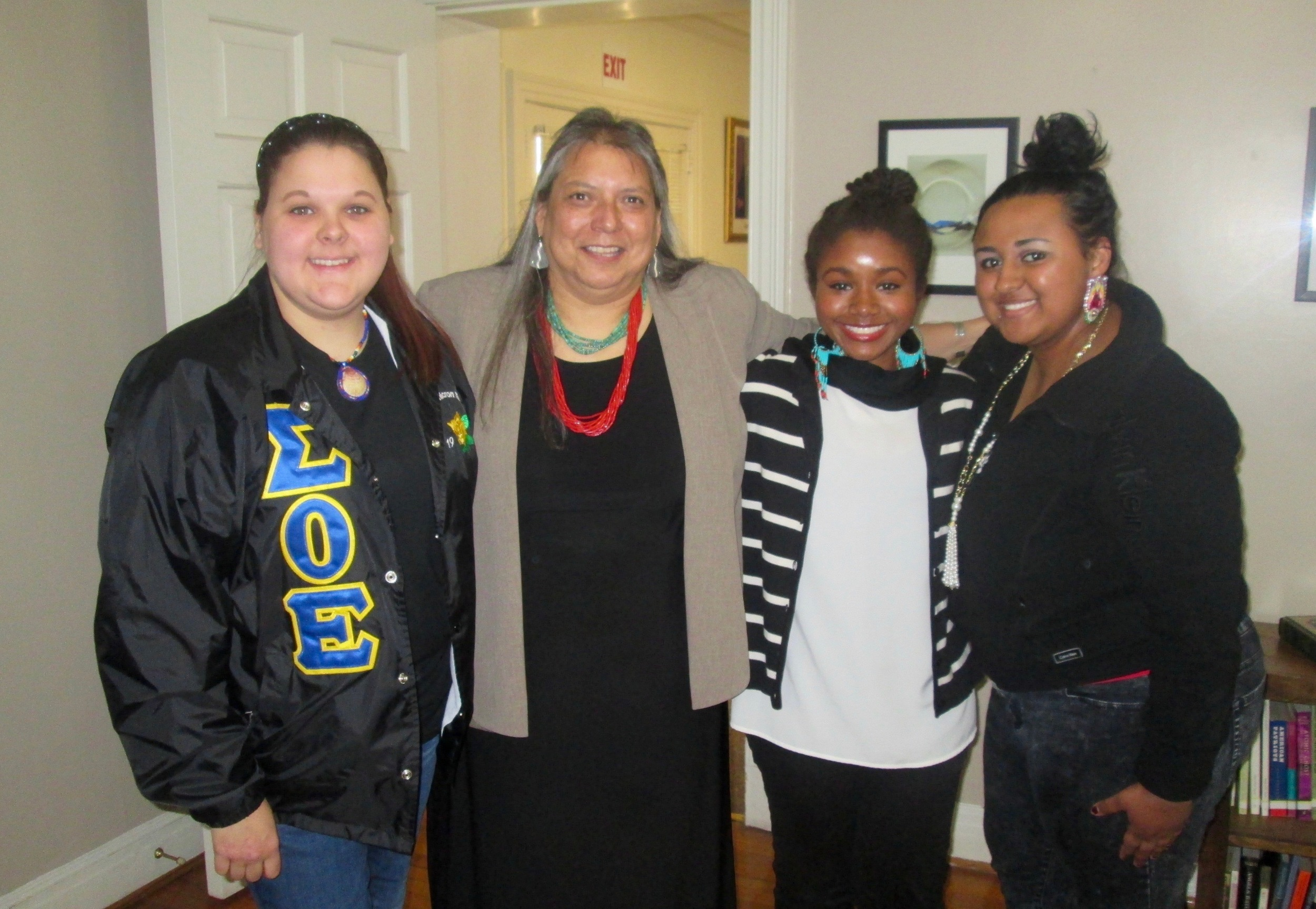 Zonnie with Members of Sigma Omicron Epsilon at ECU