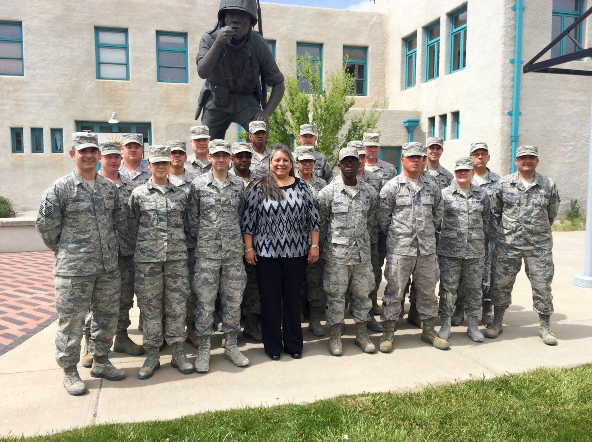 Zonnie with #442d Civil Engineer Squadron