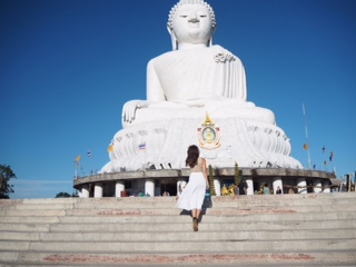 At the big buddah in Phuket