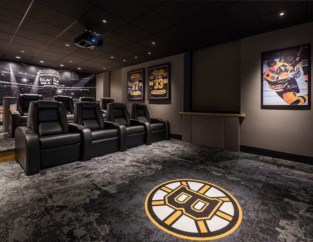 Bruins Den Media Room