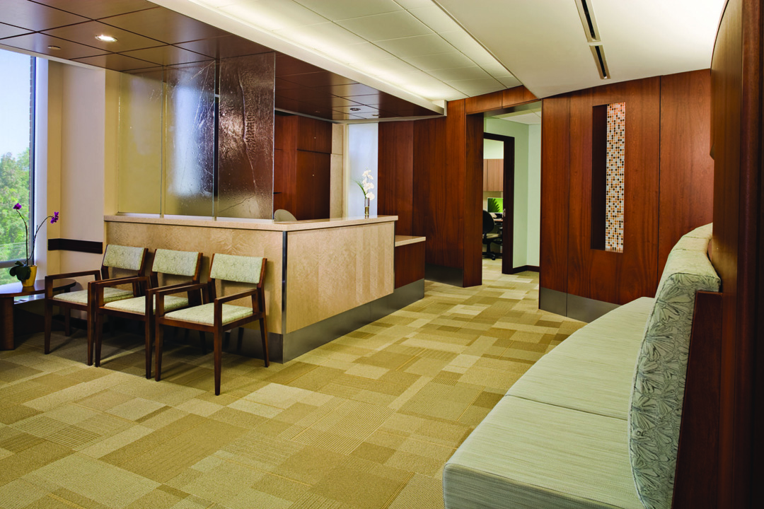 Reception Desk and Waiting Room
