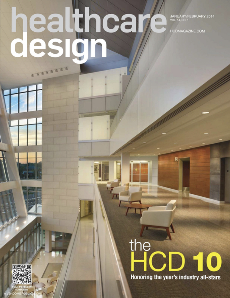Healthcare Design Magazine  - November 2013  Article:   SAFETY CHECK   by Lilliana Alvarado