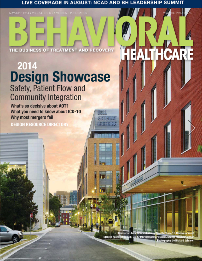 Behavioral Healthcare Magazine  - May 2014  Competition:   ANNUAL DESIGN SHOWCASE HIGHLIGHTS SAFETY, PATIENT FLOW, AND COMMUNITY INTEGRATION    Juror: Lilliana Alvarado