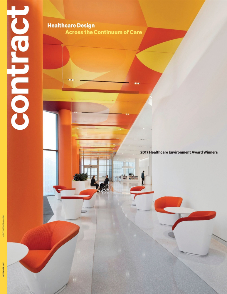 Contract Design Magazine  - November 2017  Competition:   HEALTHCARE ENVIRONMENT AWARDS 2017    Juror: Lilliana Alvarado