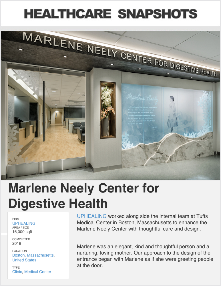 Healthcare Snapshots  - April 2019  Project Feature:   MARLENE NEELY CENTER FOR DIGESTIVE HEALTH