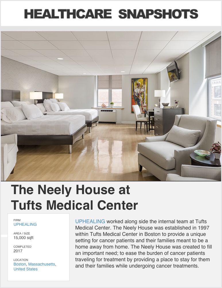 Healthcare Snapshots  - May 2019  Project Feature:   THE NEELY HOUSE