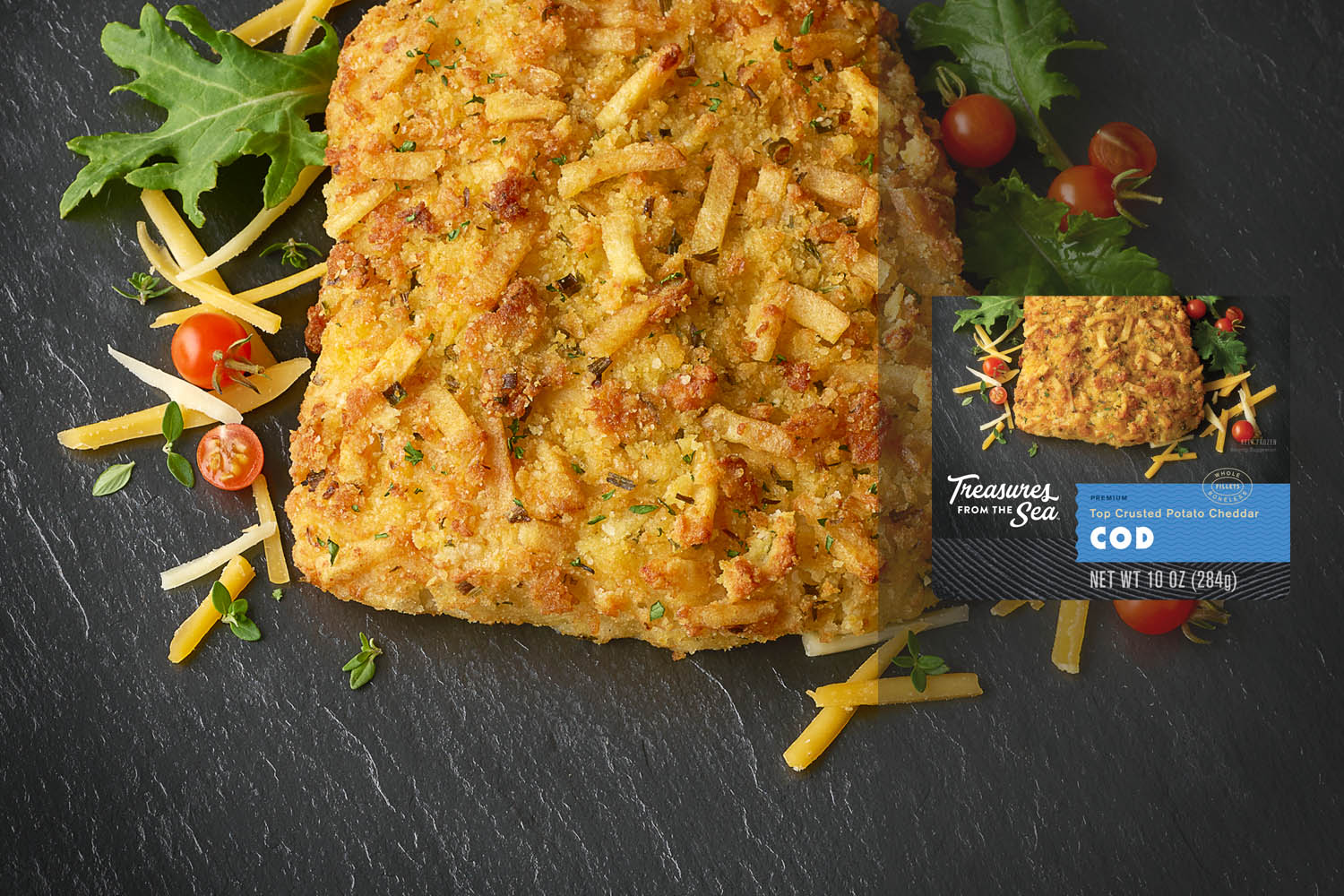 TOP CRUSTED POTATO CHEDDAR COD