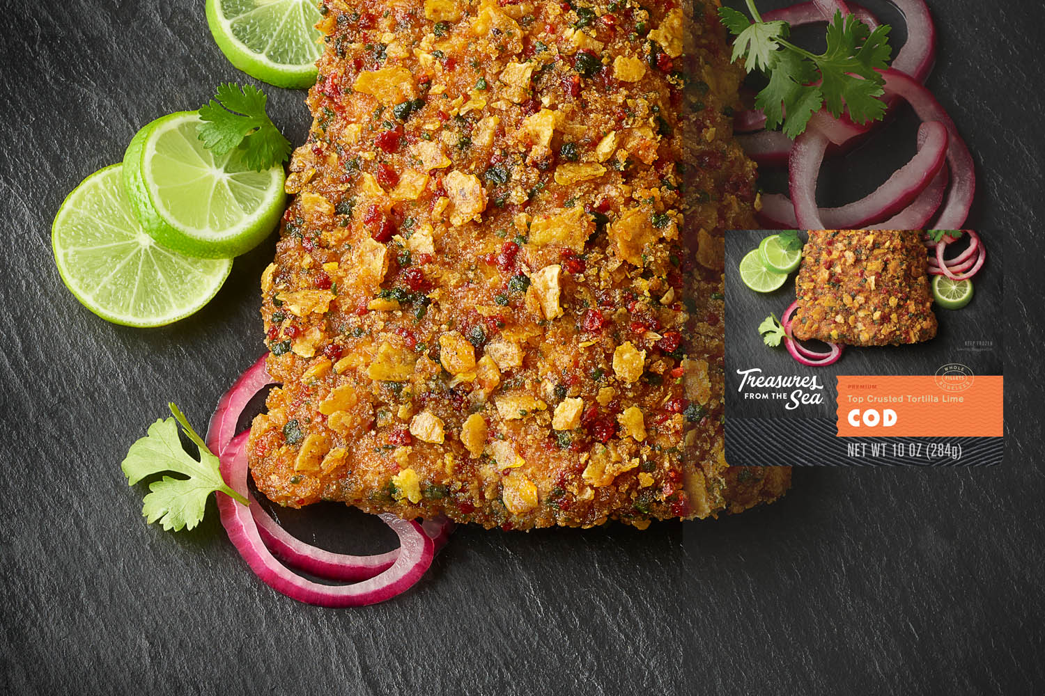 TOP CRUSTED TORTILLA LIME COD
