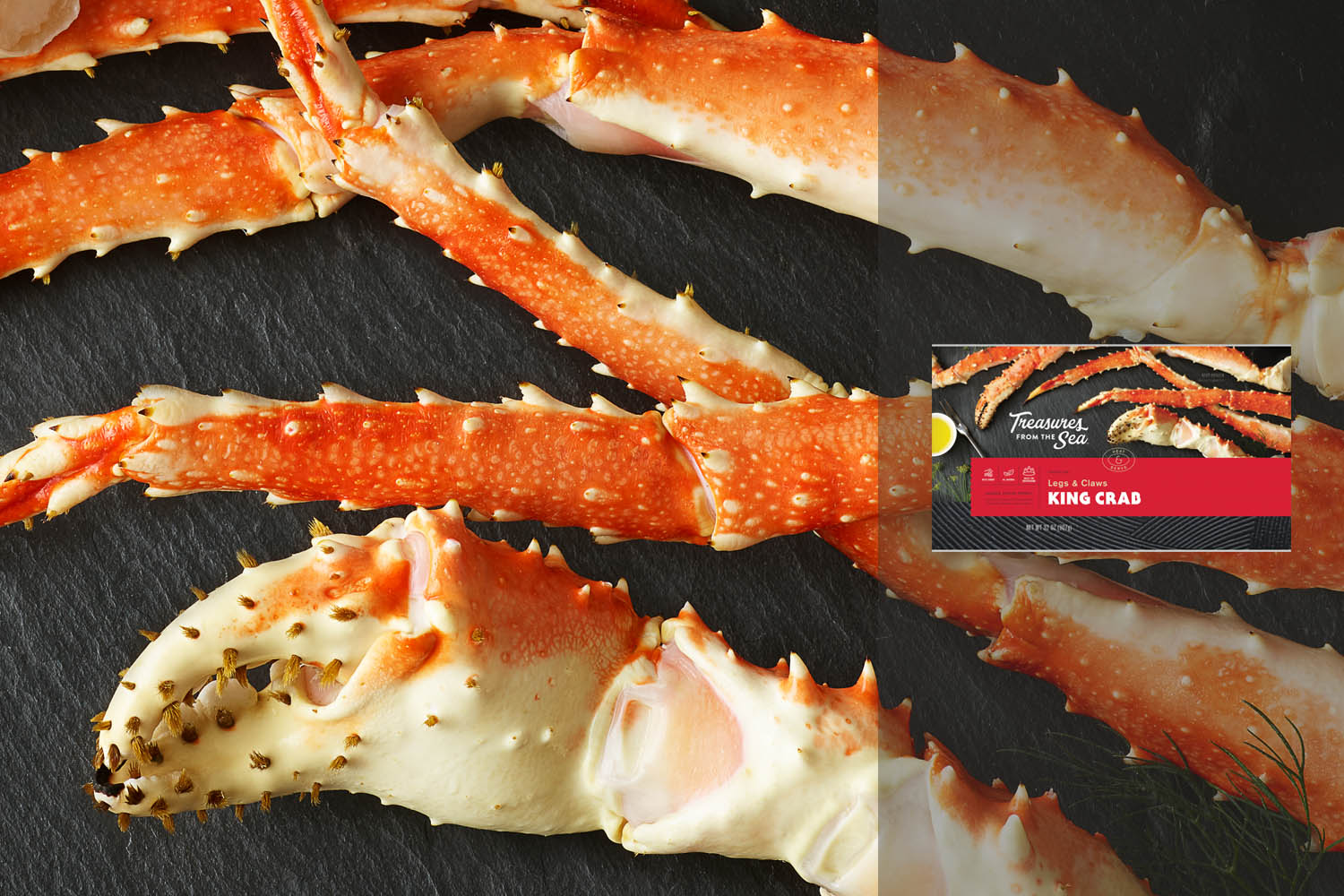 KING CRAB LEGS & CLAWS