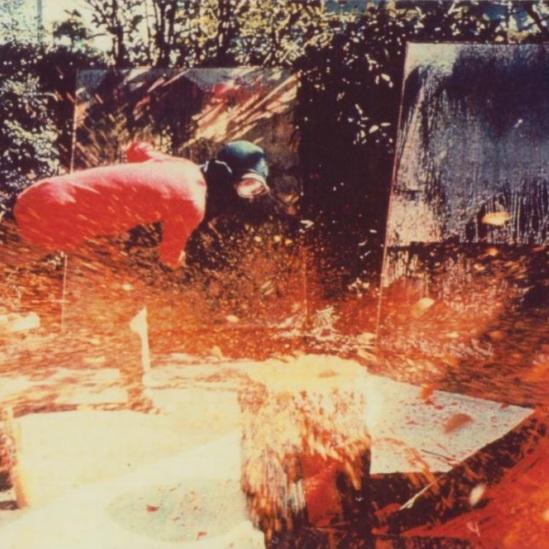 Art Observed: Shozo Shimamoto and Gutai - De Buck Gallery