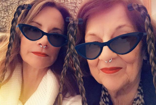 Chillin w my mom on a Saturday night. She's such a good sport for 82.... But who's counting. 😉 Love her so much!❤️ #coolmoms #nevertooold #coolgrandma #saturdayshenanigans #specialtimes #82yearsyoung #lovemymom ❤️