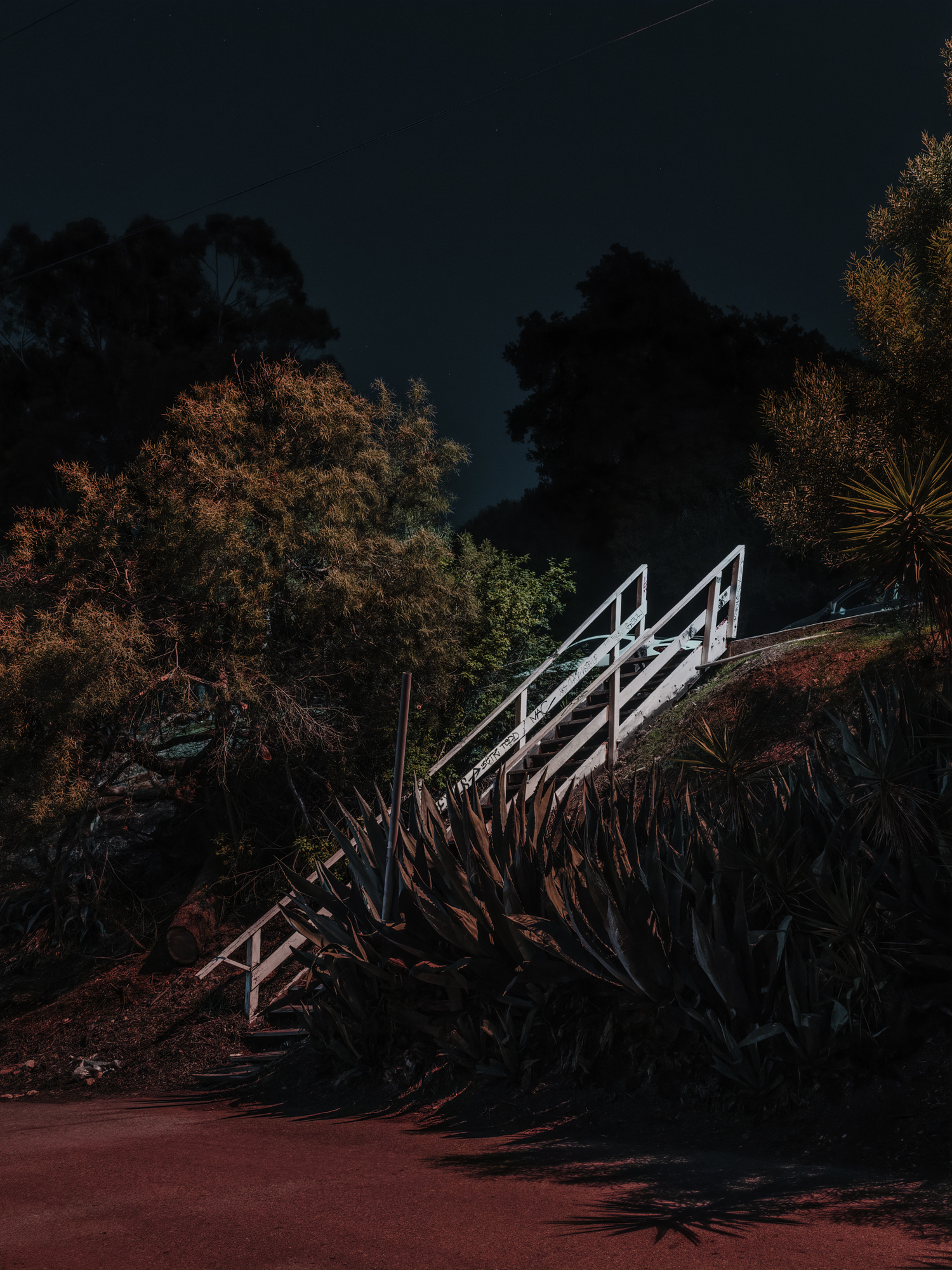 Staircase on Lilac, Los Angeles, 2018.  Archival Pigment Print.   Pricing & Edition Info