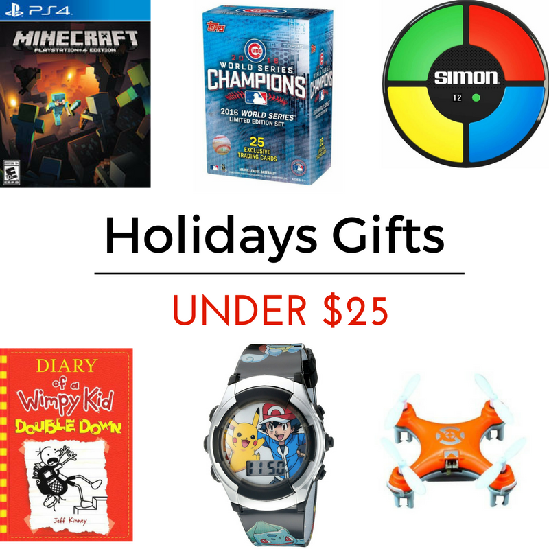 Boy's Gifts   Minecraft PS4 Game    Chicago Cubs World Series Limited Edition Set    Simon Says    Diary of a Wimpy Kid    Pokemon Watch    Cheerson Drone