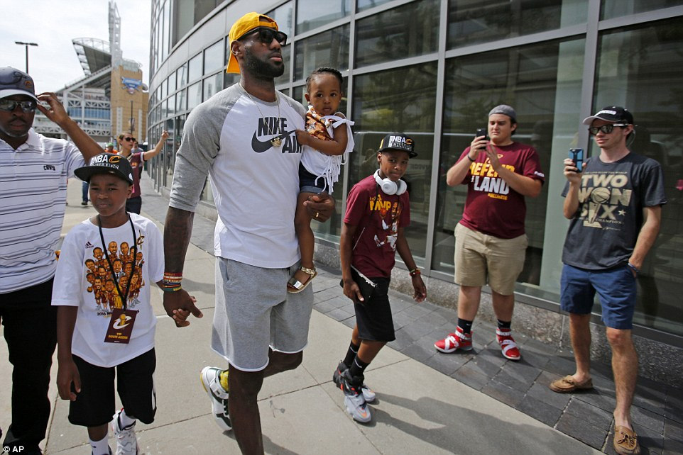 Lebron James and his Family.