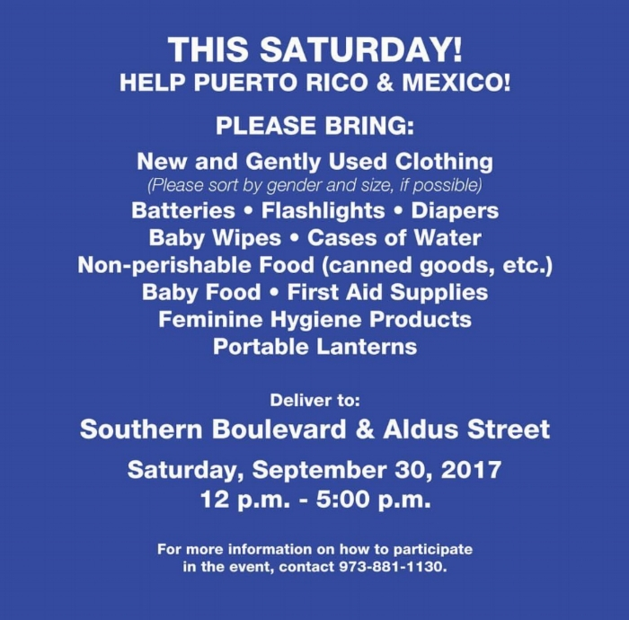 The Bronx Borough President Ruben Diaz Jr needs your help, not only to donate but to Volunteers. Please call 973-881-1130 if you want to help.