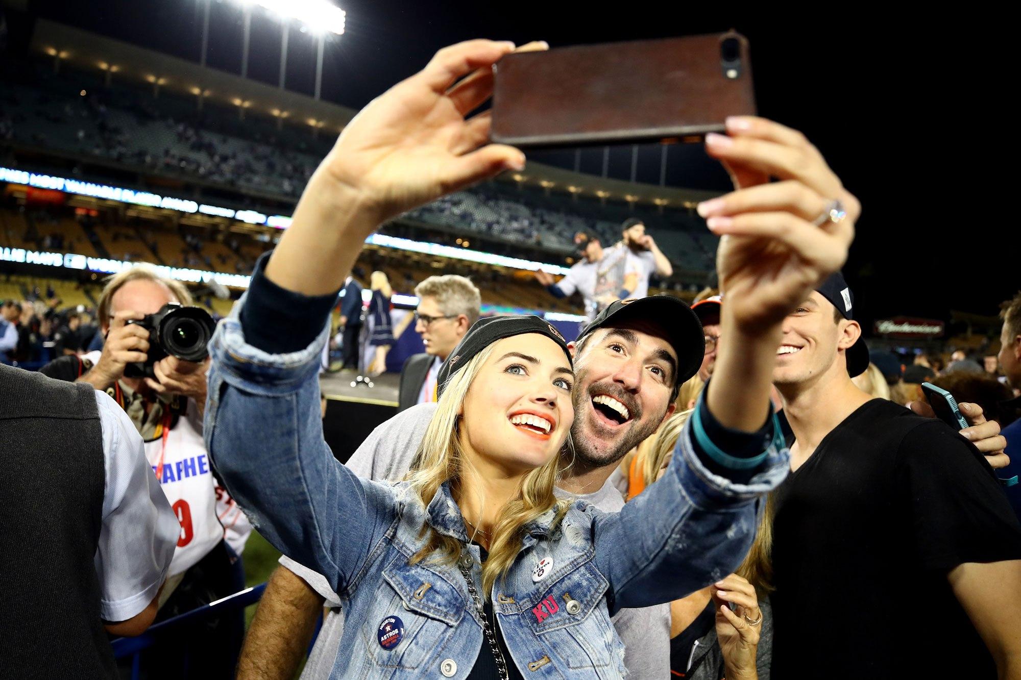 Salfee time Justin Verlander and his girlfriend the beautiful Kate Upton.