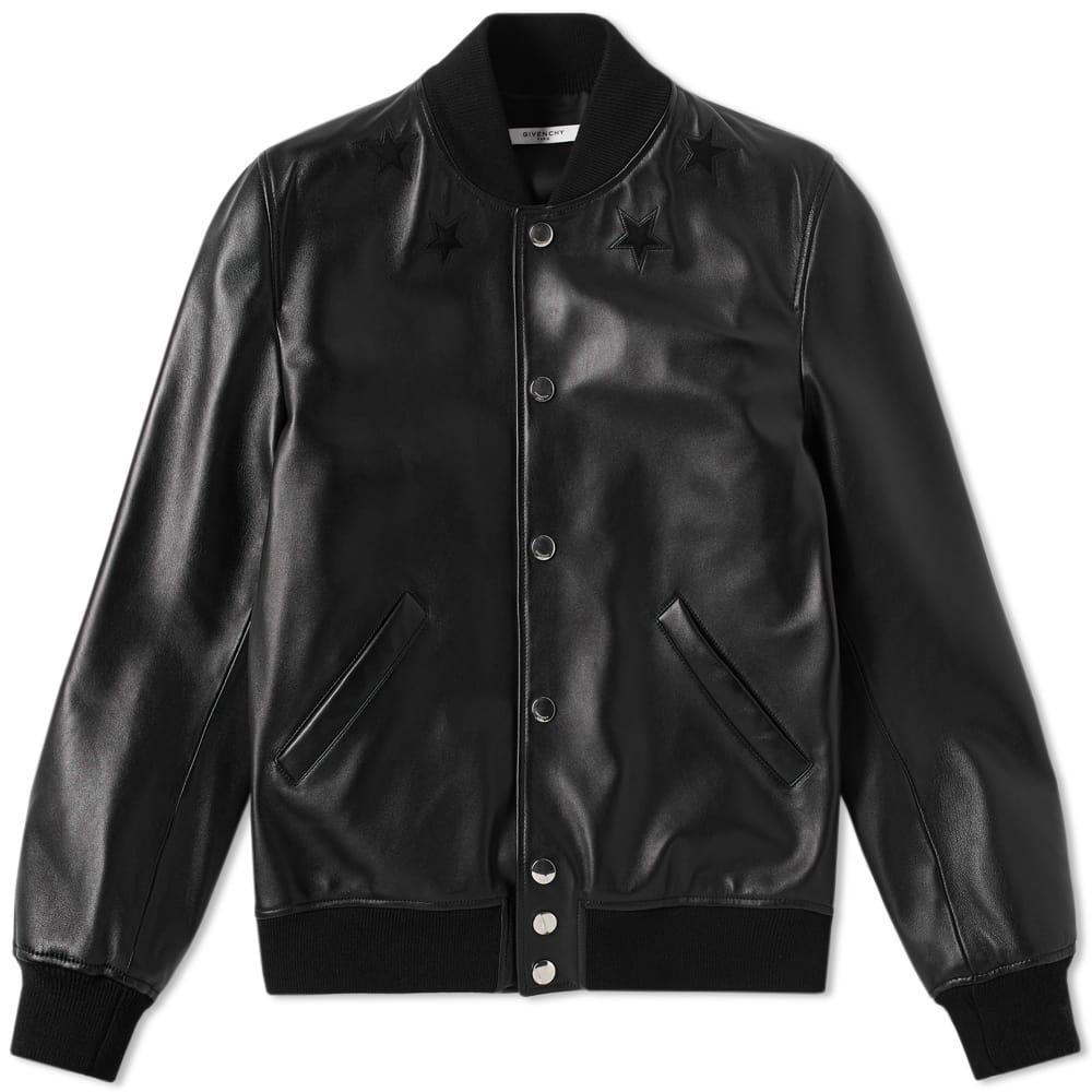 Givenchy Leather Star Bomber Jacket