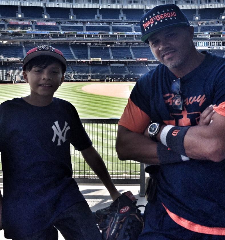 Daddy and Milz at Yankees Stadium