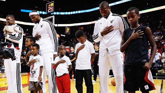 Lebron and his son's and Wade with his Son's