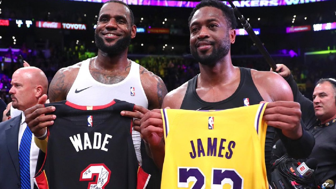 Wade and James , there last game they played each other.