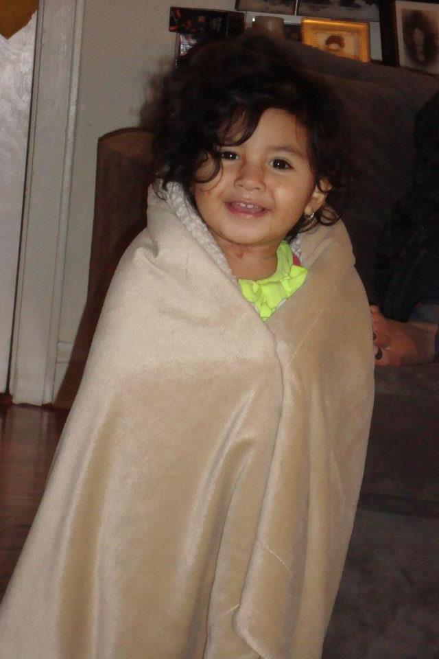 Ella was cold that day:)