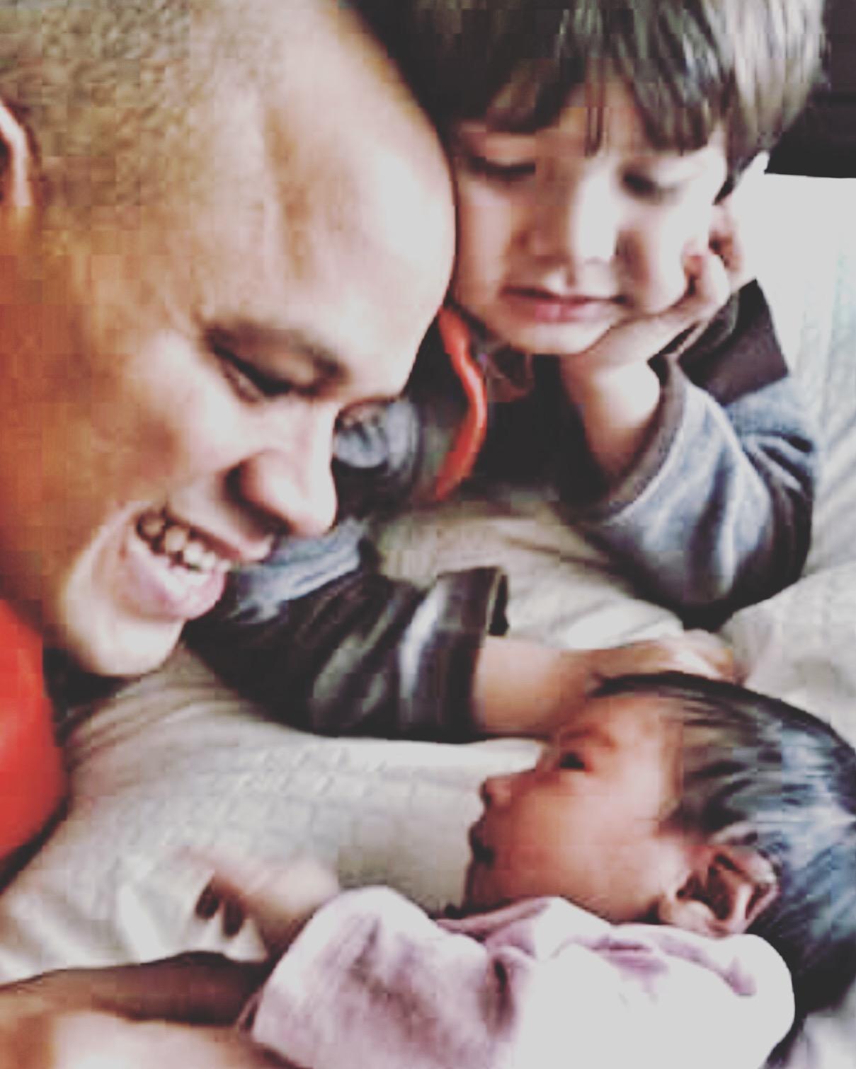 Daddy, Milian and Ella(My Angel)