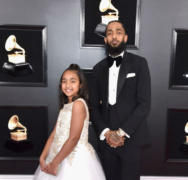 Nipsey and his daughter at the Grammy's