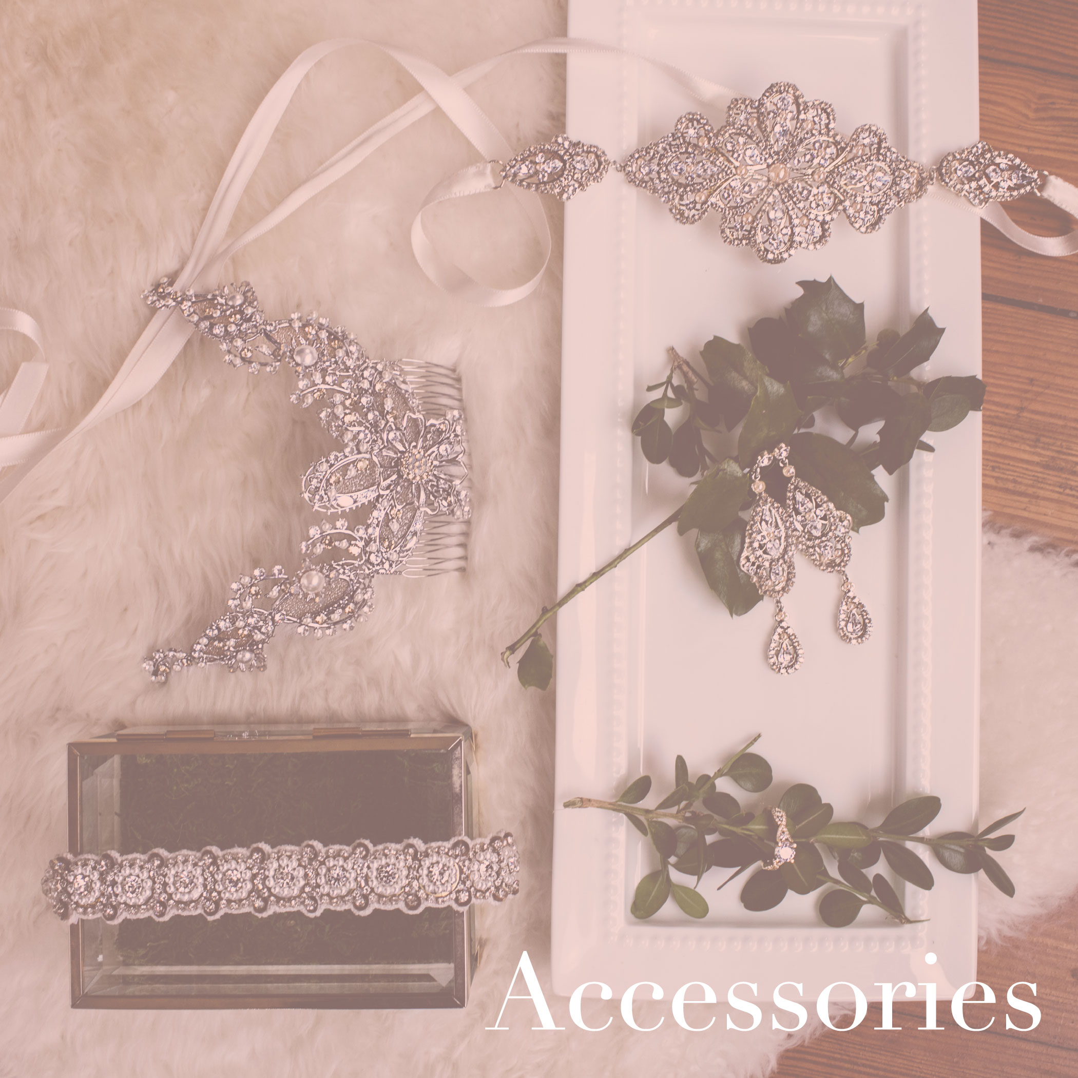 house of white bridal boutique accessories