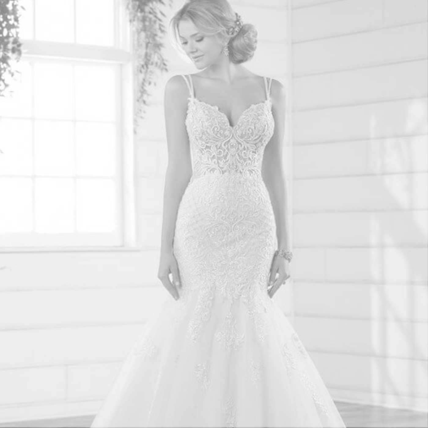 Essense of Australia - We couldn't help but let our jaws drop at this collection, because there's literally something for everybody! From sleek crepe sheaths to opulent princess ballgowns, the collection is not limited to one style of bride.starting at $1,500