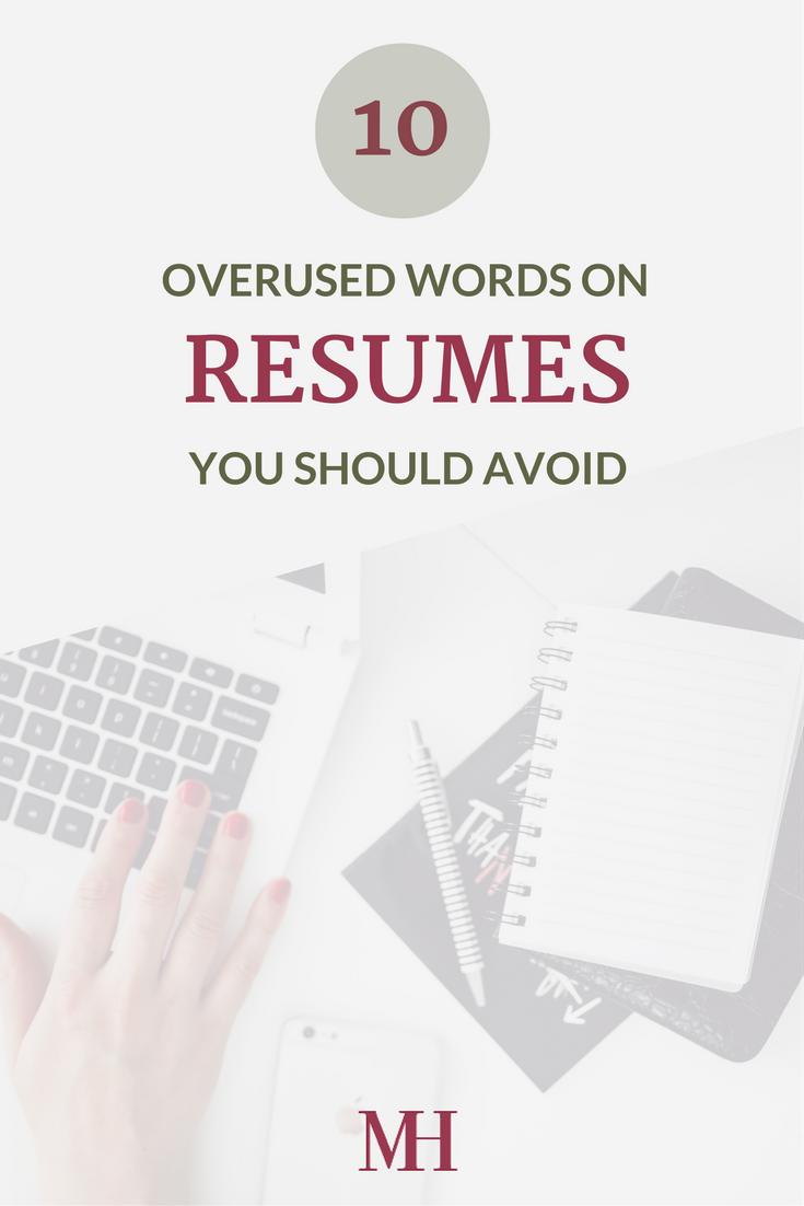 Overused Words on a Resume
