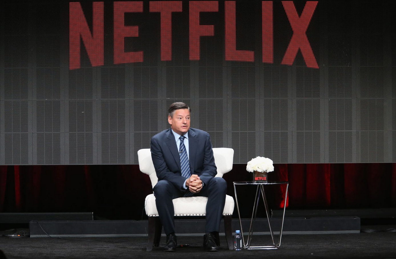 Ted Sarandos, Chief Content Officer for Netflix, speaks at the Television Critics Association summer press tour in 2015.