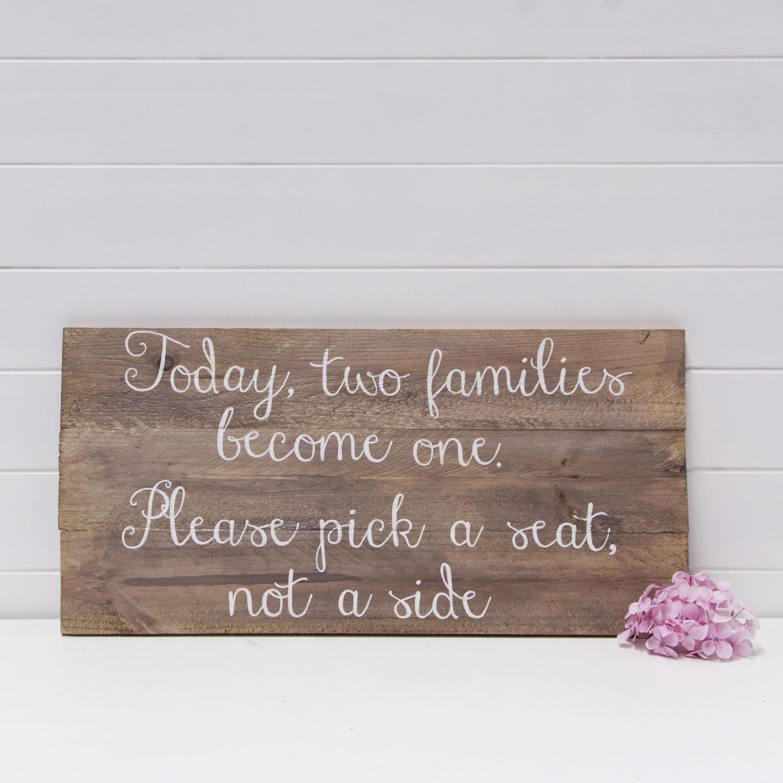 PICK A SEAT SIGN QTY: 1