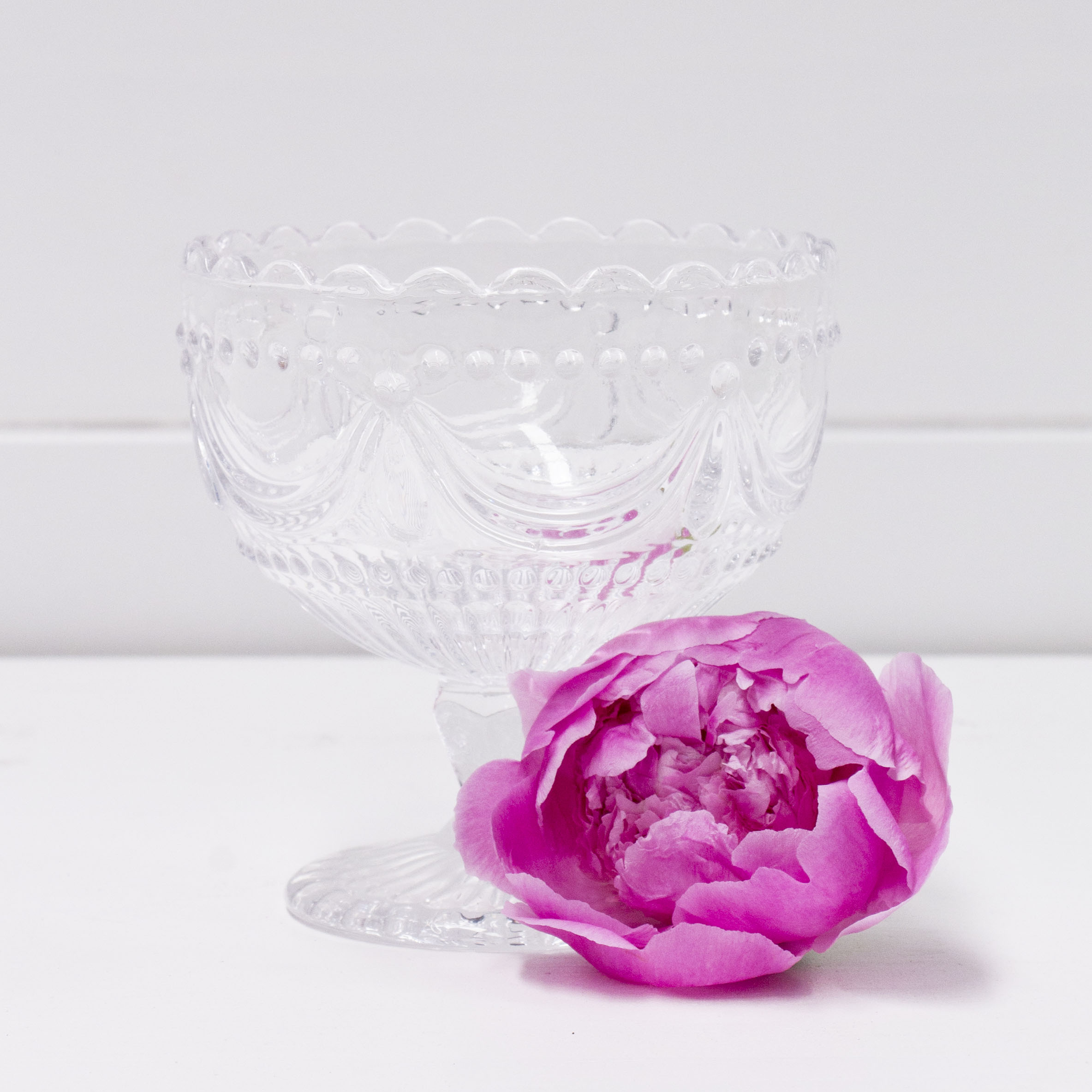 Ornate Clear Glass Vase