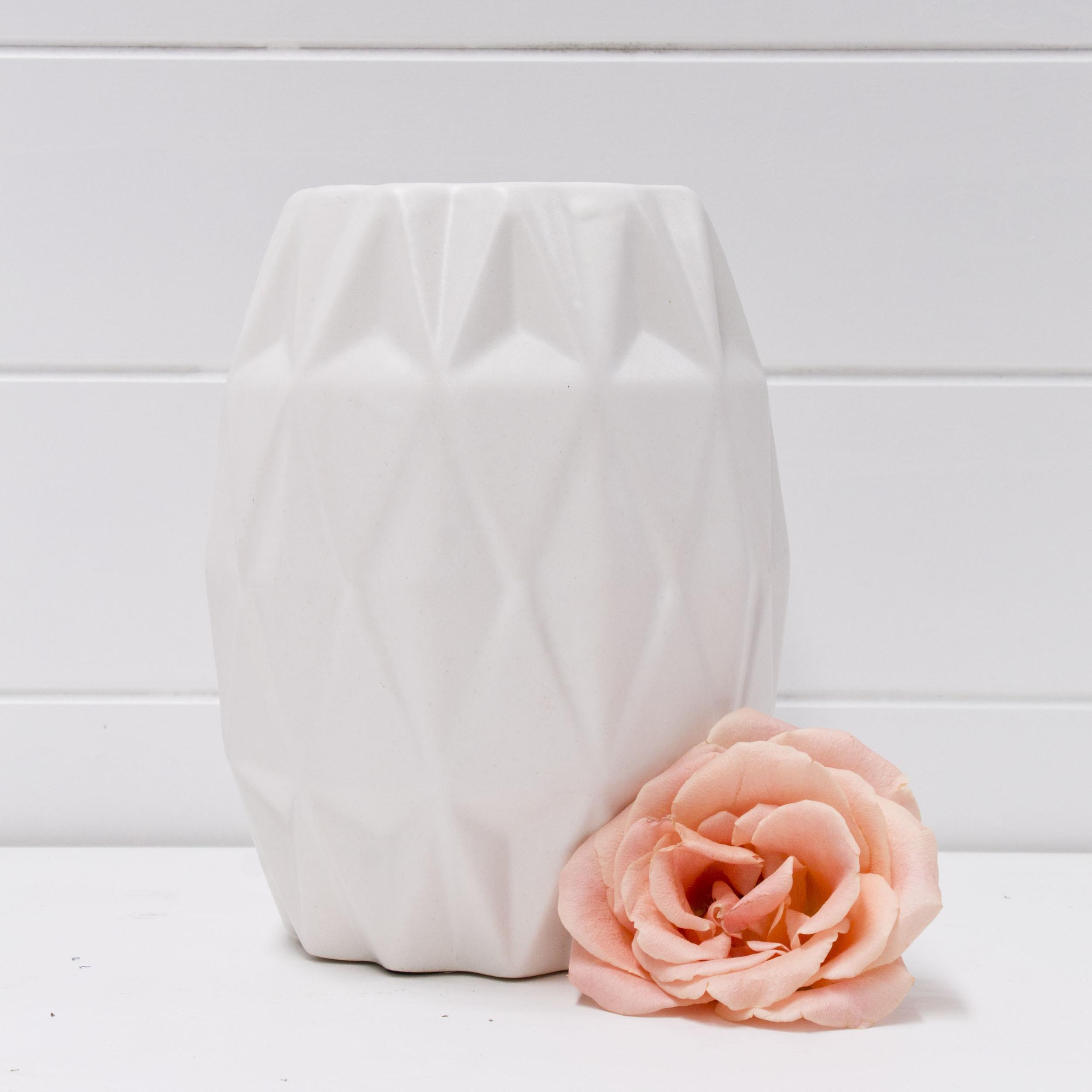 White Geo Vase