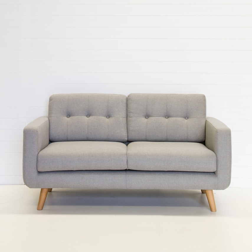 Two Seater Light Grey Sofa