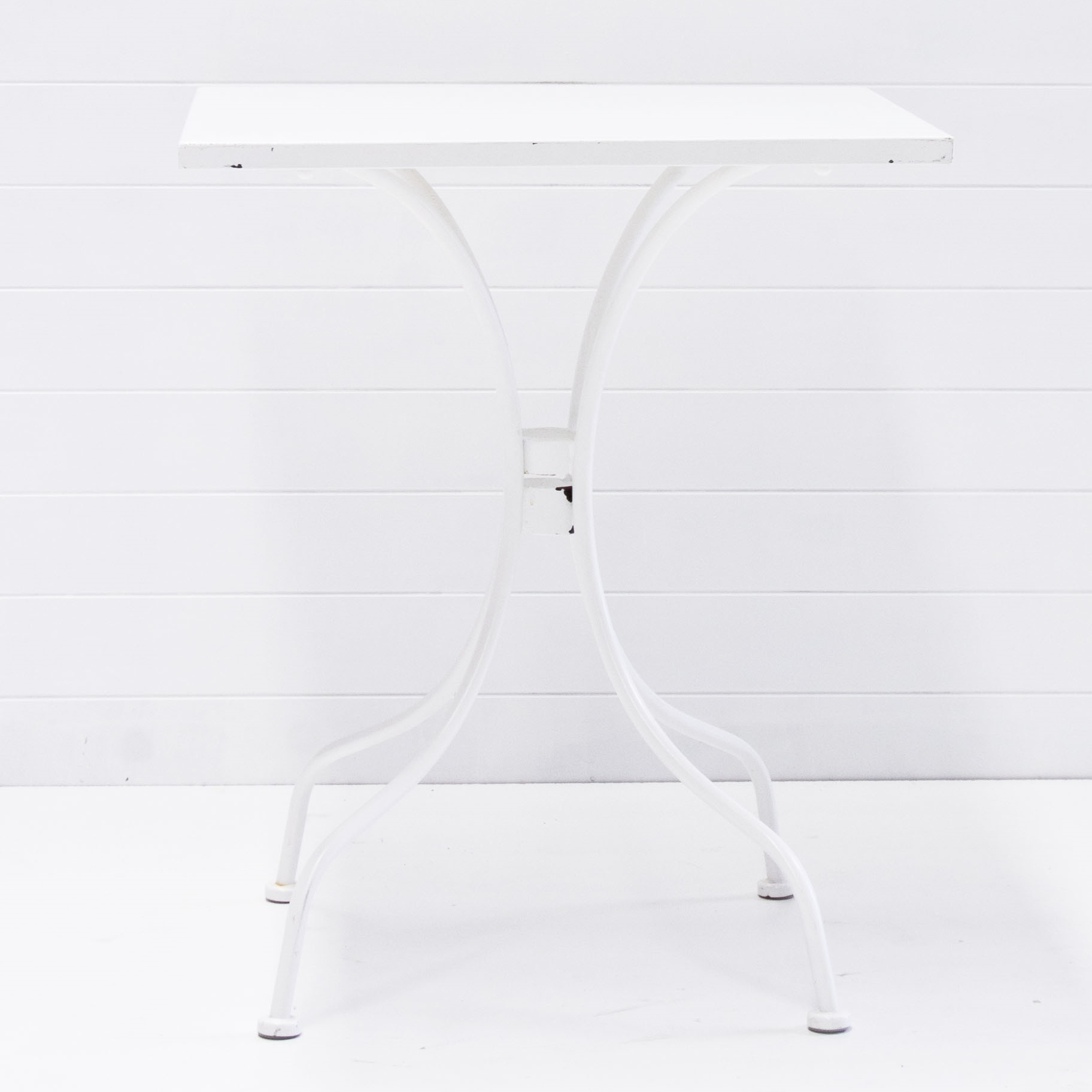 White Cafe Table