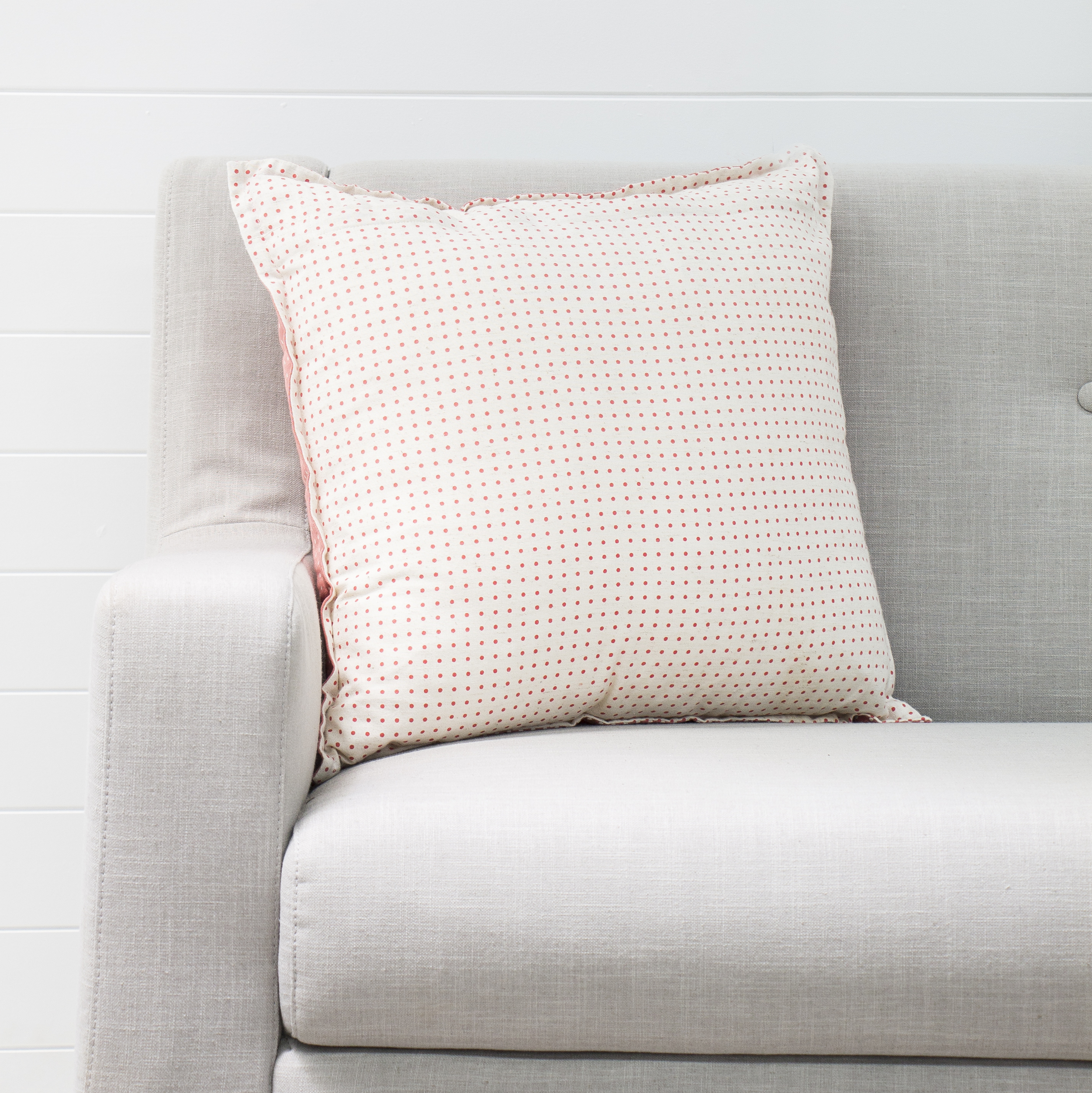 Coral Dotted Cushion