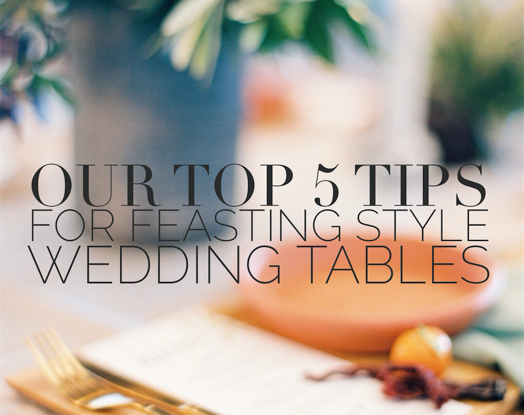 Feasting menus for weddings