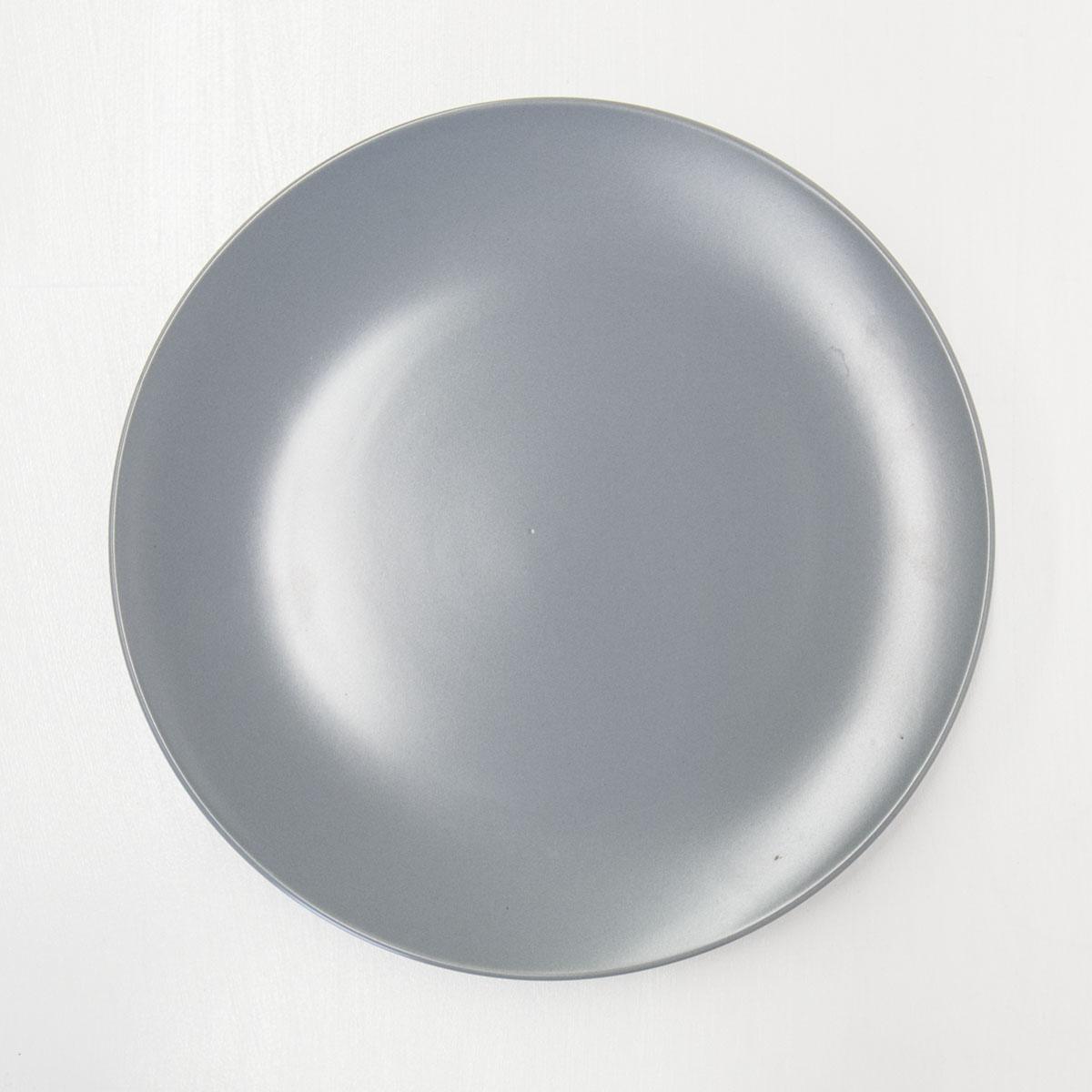 GREY DINNER PLATE
