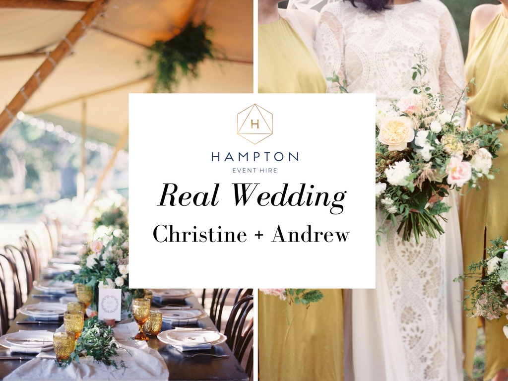 Hampton Event Hire - Wedding and Event Hire   Christine + Andrew - Gold Coast Hinterland Wedding   www.hamptoneventhire.com   Photo by Byron Loves Fawn Photography