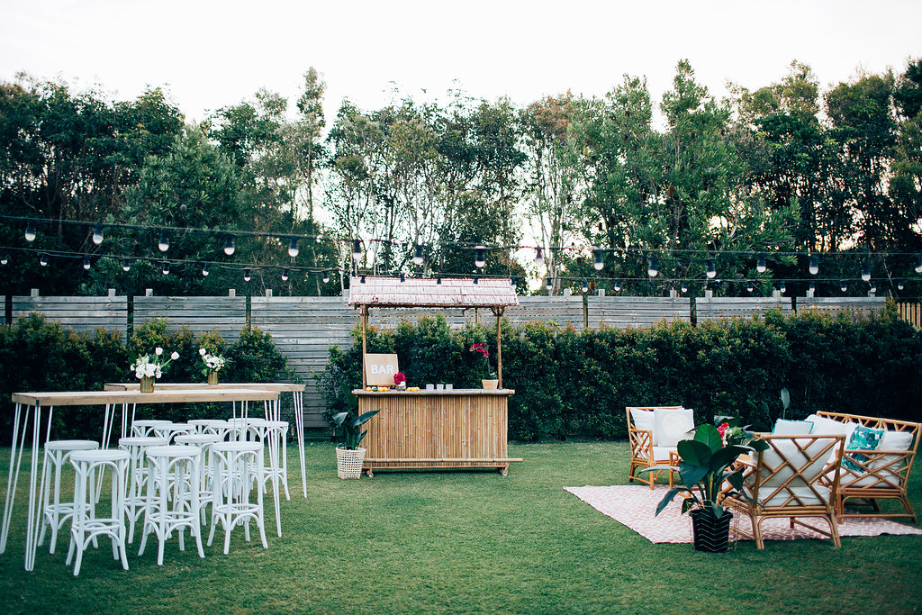 Hampton Event Hire | www.hamptoneventhire.com | Tropical wedding at Osteria Casuarina | Byron Bay, Brisbane and Gold Coast Wedding Hire |