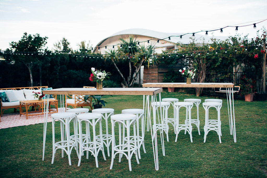 Hampton Event Hire | www.hamptoneventhire.com | Hairpin bars and bentwood stools | Byron Bay, Brisbane and Gold Coast Wedding Hire |