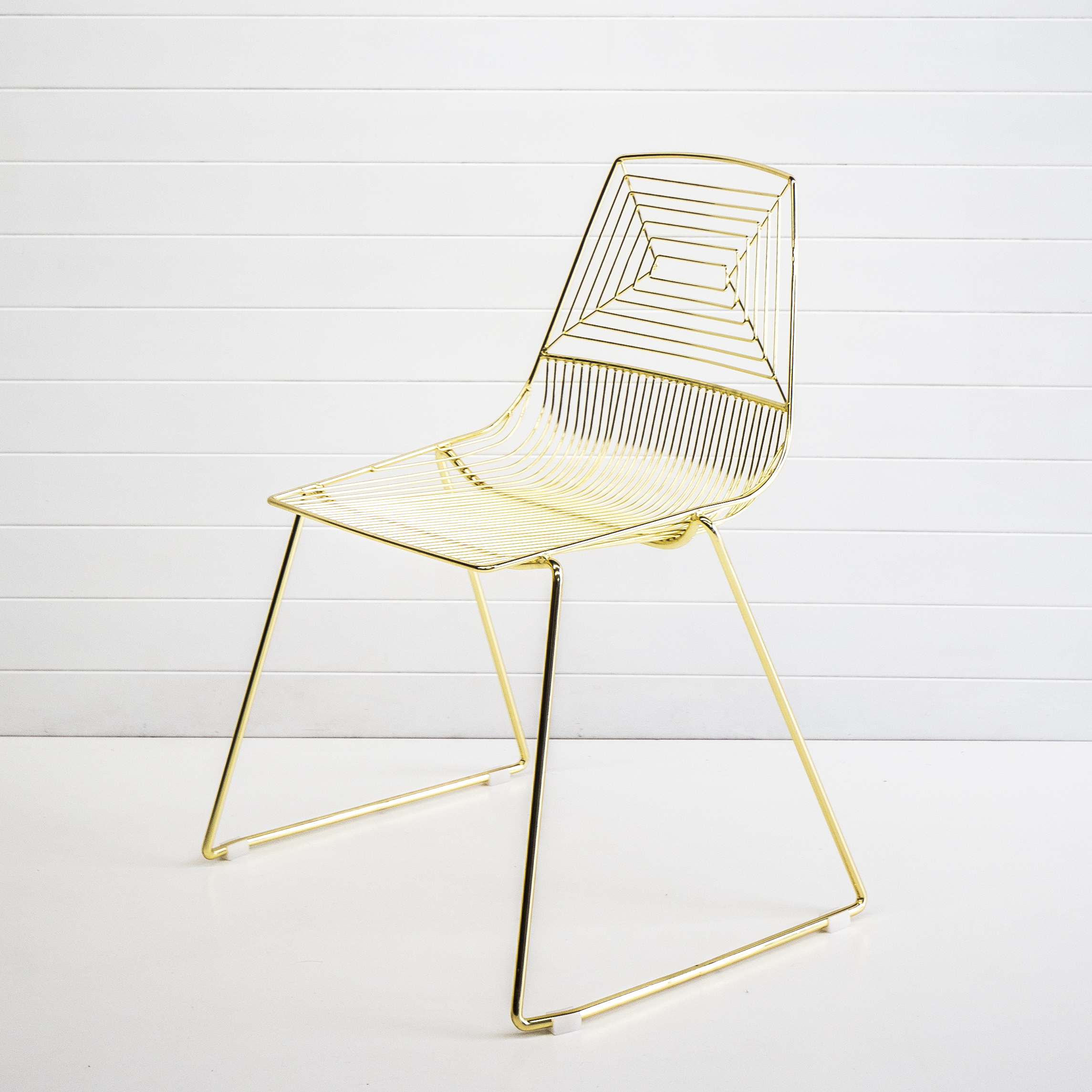 Gold Soho Wire Dining Chair