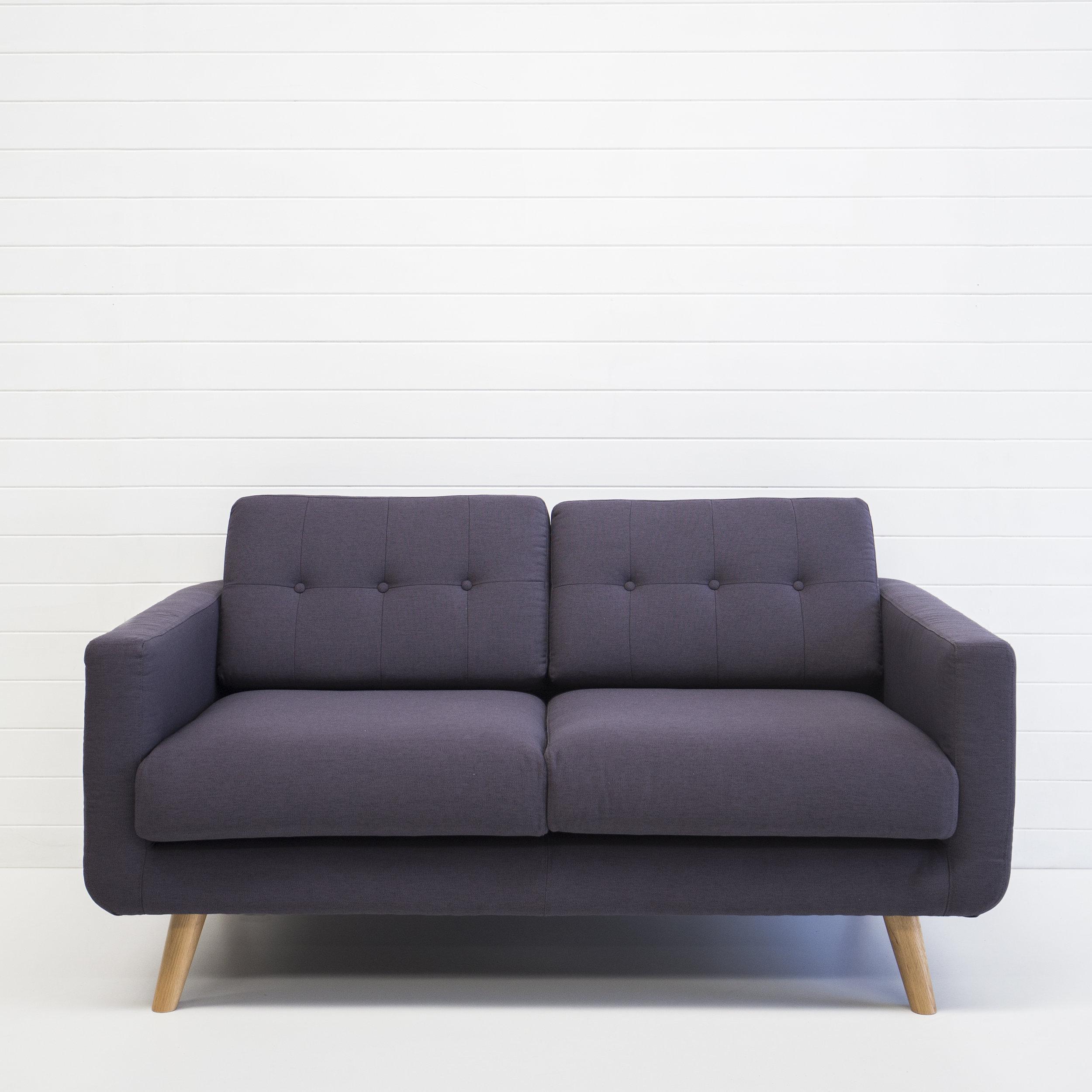 Two Seater Black Sofa